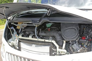 A three-litre, four-cylinder Euro6 engine is fitted