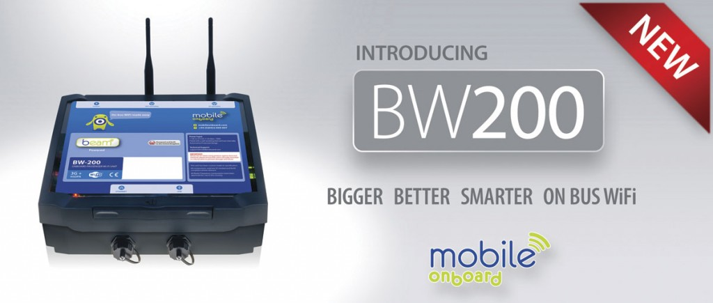 BW200, one of the company's high-end versions of its Beam Wi-Fi units