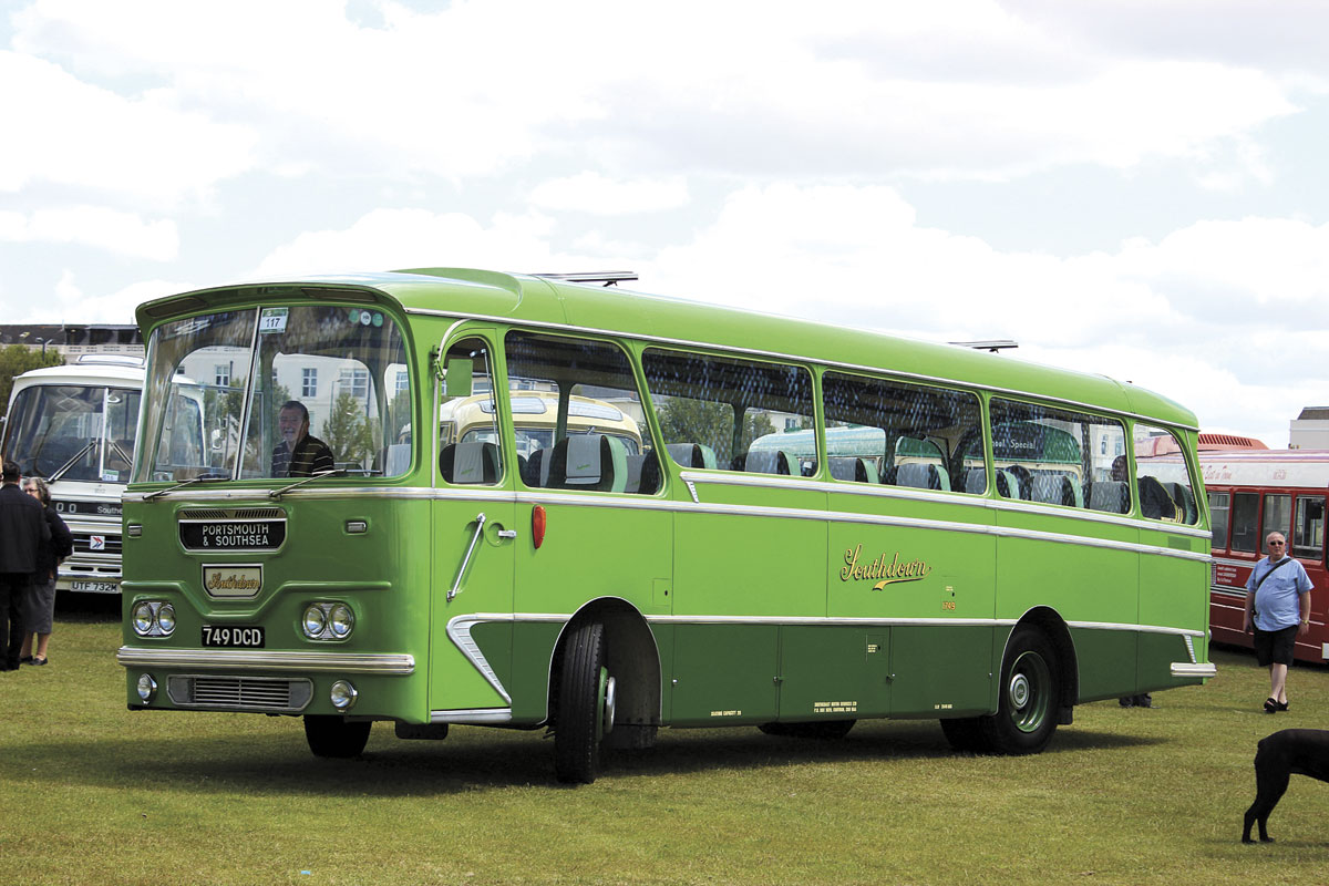 Built in 1963, this Leyland Leopard L2 has 31ft 5in long Harrington coachwork