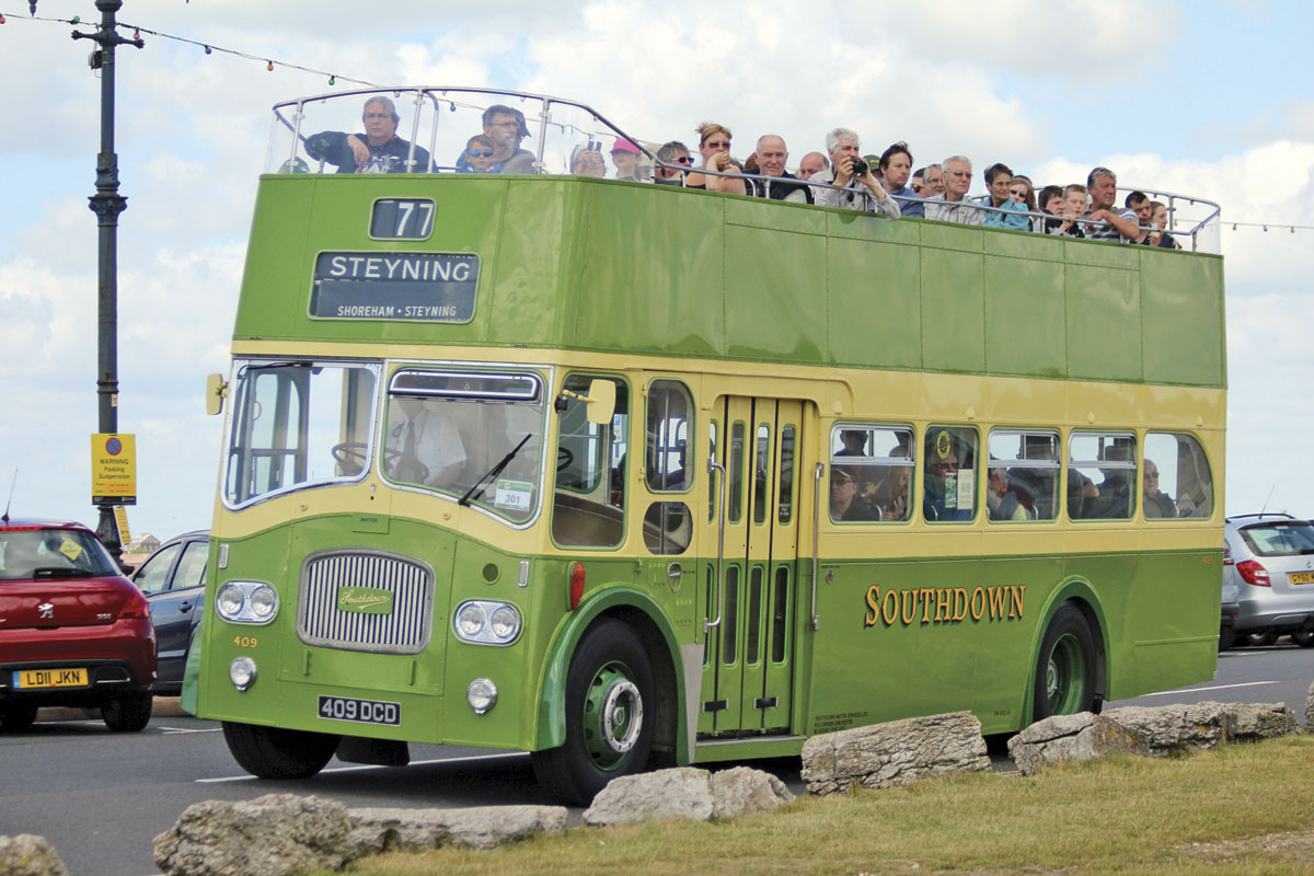 Free bus rides were run on two routes, open toppers providing a seafront service