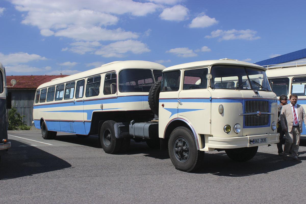 Karosa built the No80 style trailer body behind this Liaz tractor unit in 1958. It seats 51 with nine standees