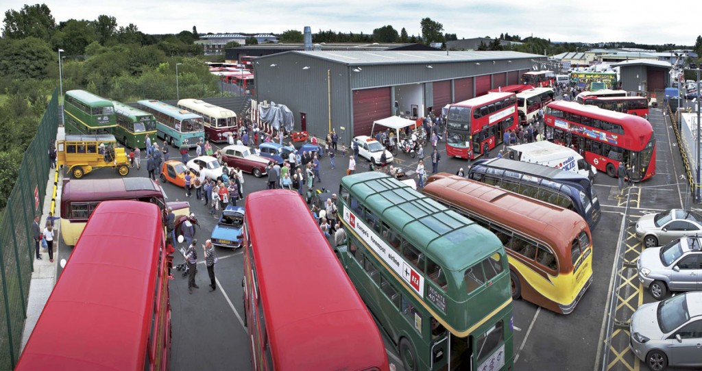 A general view of the event from a cherry picker courtesy of Epsom Coaches.