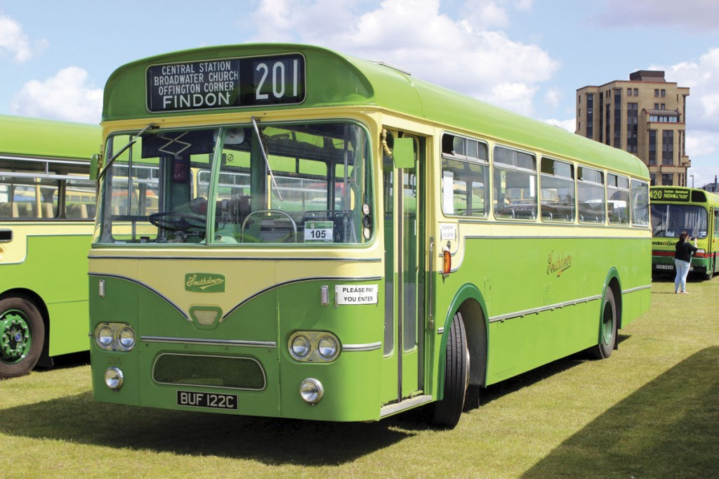 Southdown bought several batches of Leyland Leopard service buses. This 1965 example has 45-seat Marshall bodywork
