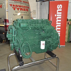 The Cummins stand included a remanufactured 8.3litre ISC engine