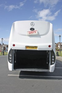 The Voyager GT has a good sized, 4.0 cu.m boot and a powered parallel action rear door