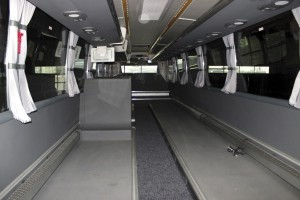 The interior of a touring in Antwerp awaiting the installation of its Kiel seats