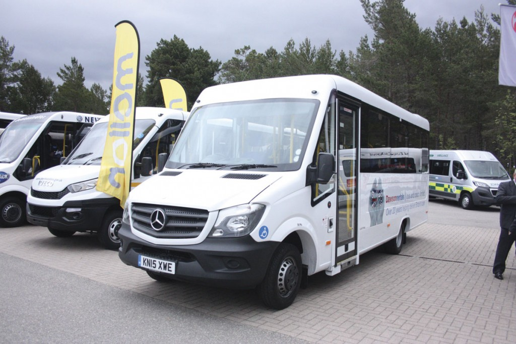 Treka Bus Treka 16 accessible minibus on Mercedes-Benz Sprinter 513, one of 55 being built for DawsonRentals. It features Phoenix Hydra seats
