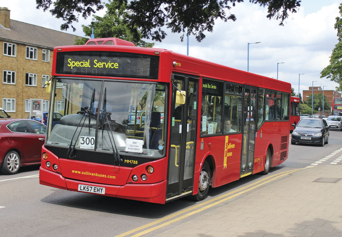 A Sullivan Buses MAN 12.240 MCV Evolution operating a 300 free service to their South Mimms depot