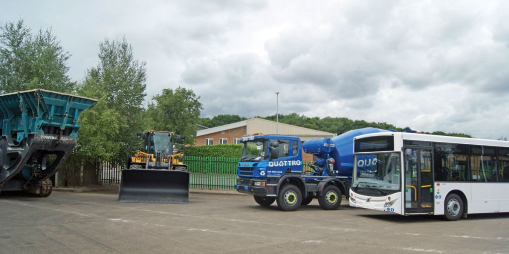 A line up of vehicles at the open day, all fitted with Groeneveld's lubricant management systems.
