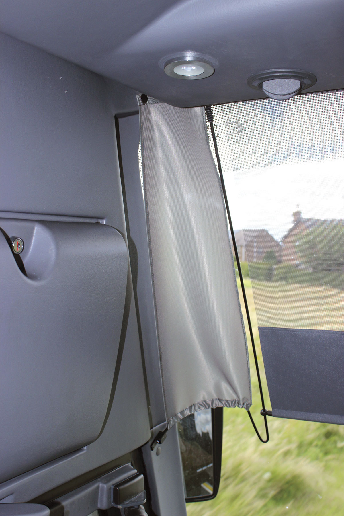 A nice idea I've not seen previously are gaiters either side of the sunblind to prevent the sun getting past the edges