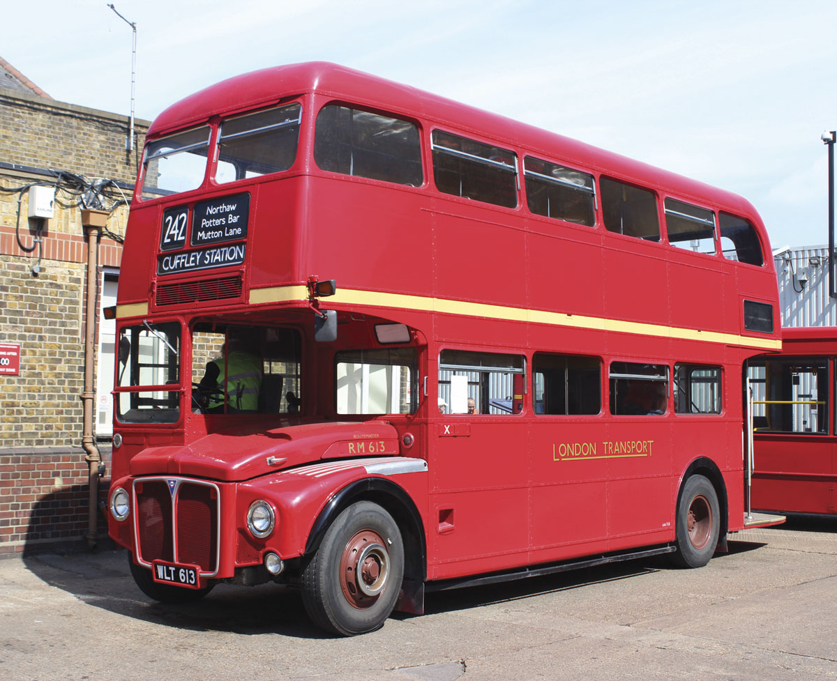 A preserved standard AEC Routemaster awaiting its next turn on the free service roster