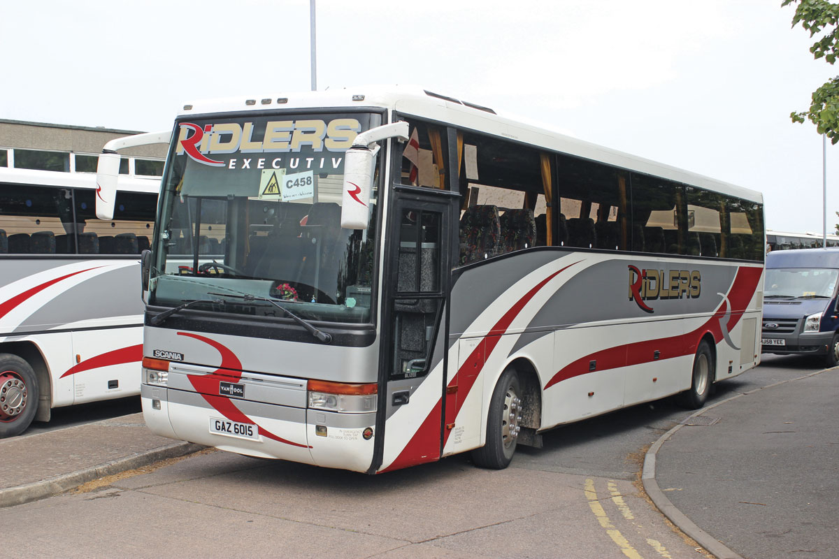 Among a number of Scania Van Hool T9s is this 2000 K124