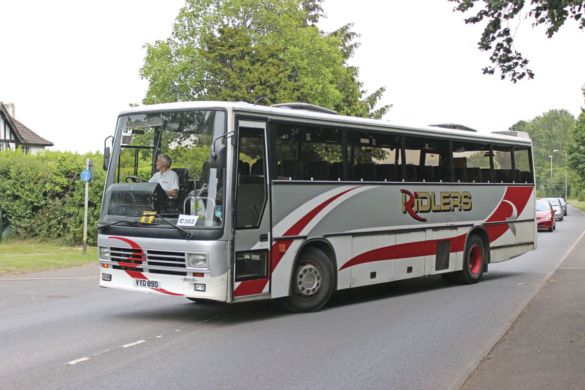 Among the older 11m Dennis Javelin Duple 320s retained is this 1992 example