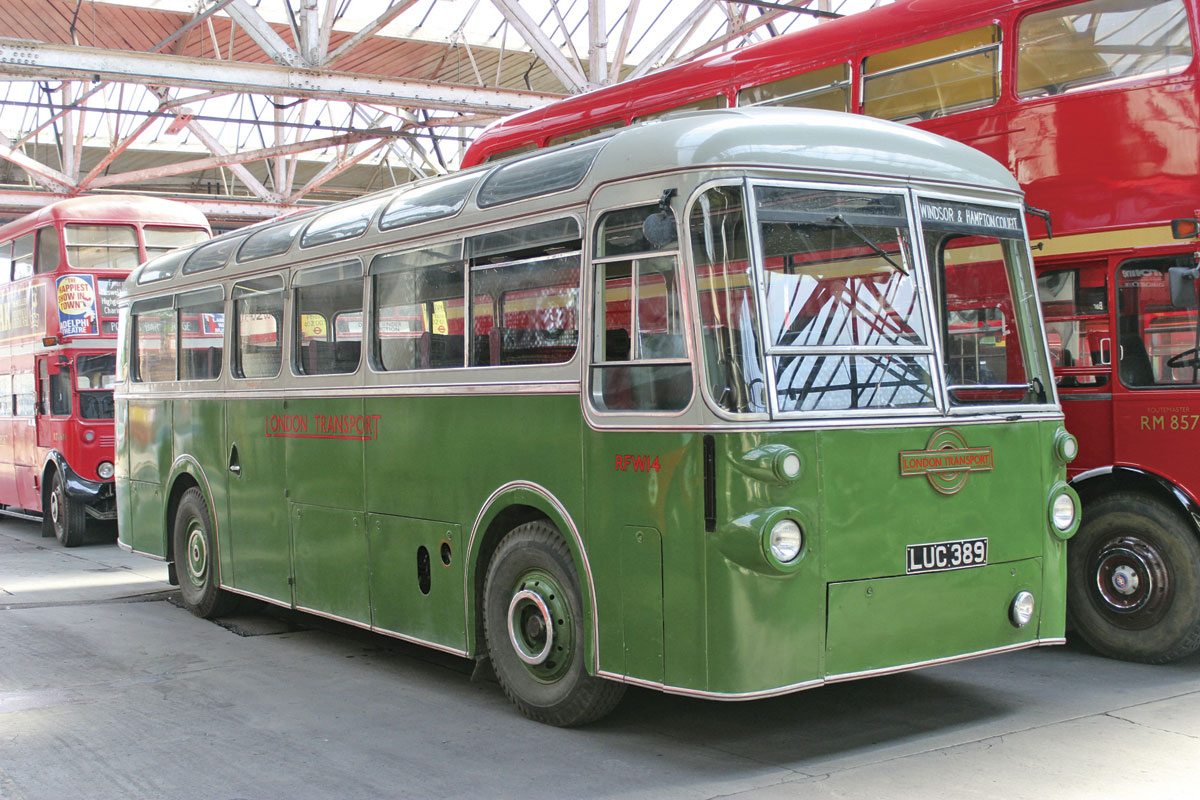 As well as the hundreds of RF type service buses purchased in the 1950s there were a small number of 1951 RFW coaches on the same Regal IV chassis but with ECW coachwork for private hire