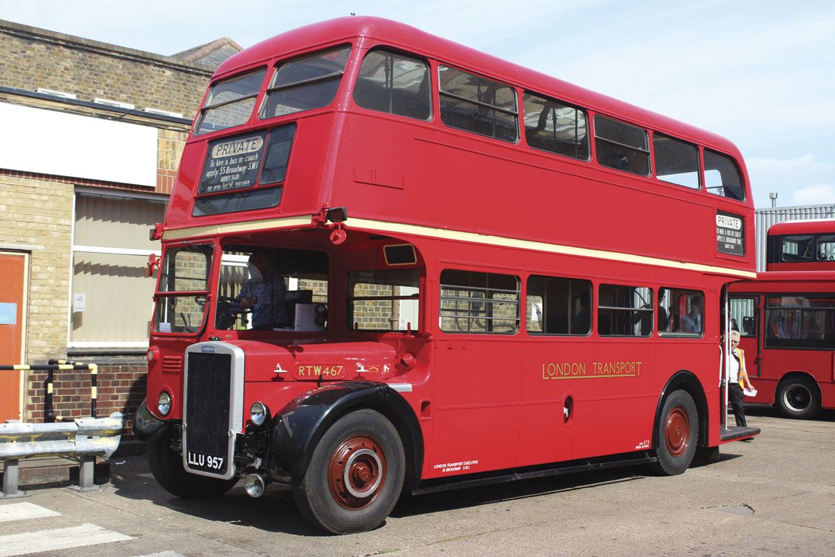 Jointly owned by Leon Daniels and Sir Peter Hendy is this eight foot wide RTW type Leyland Titan PD2/3, a class that first entered service in 1949