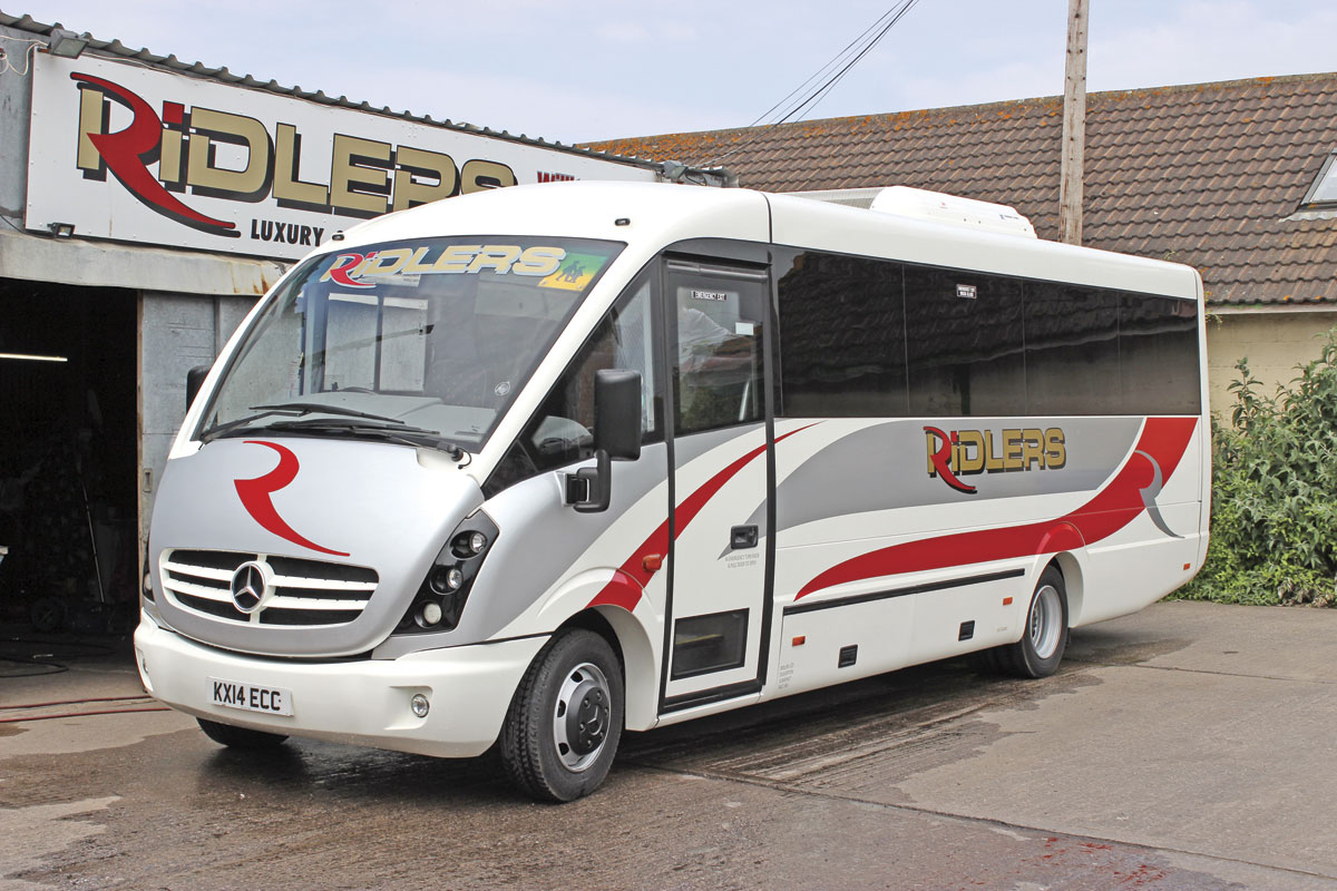 Leased from Dawsonrentals is the very last Plaxton Cheetah bodied Mercedes-Benz Varios