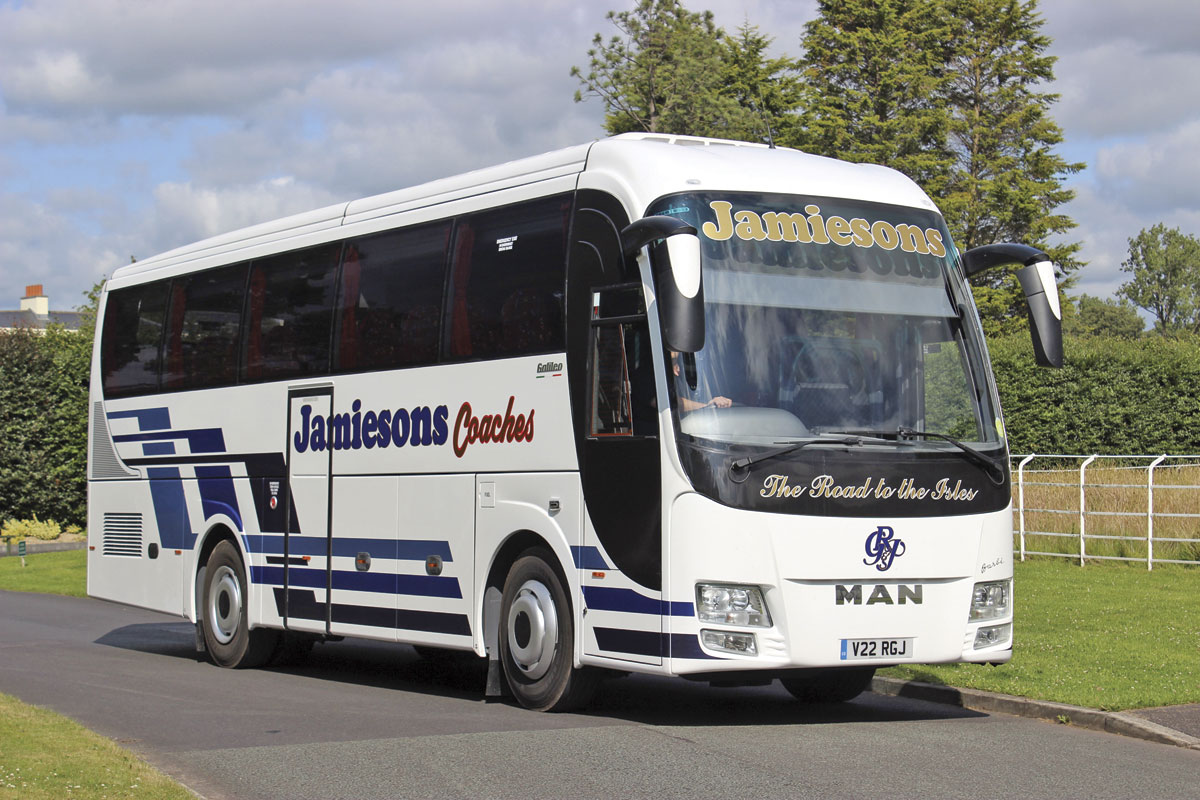 On the 10.35m long Galileo HD, the air conditioning is mounted towards the front of the roof