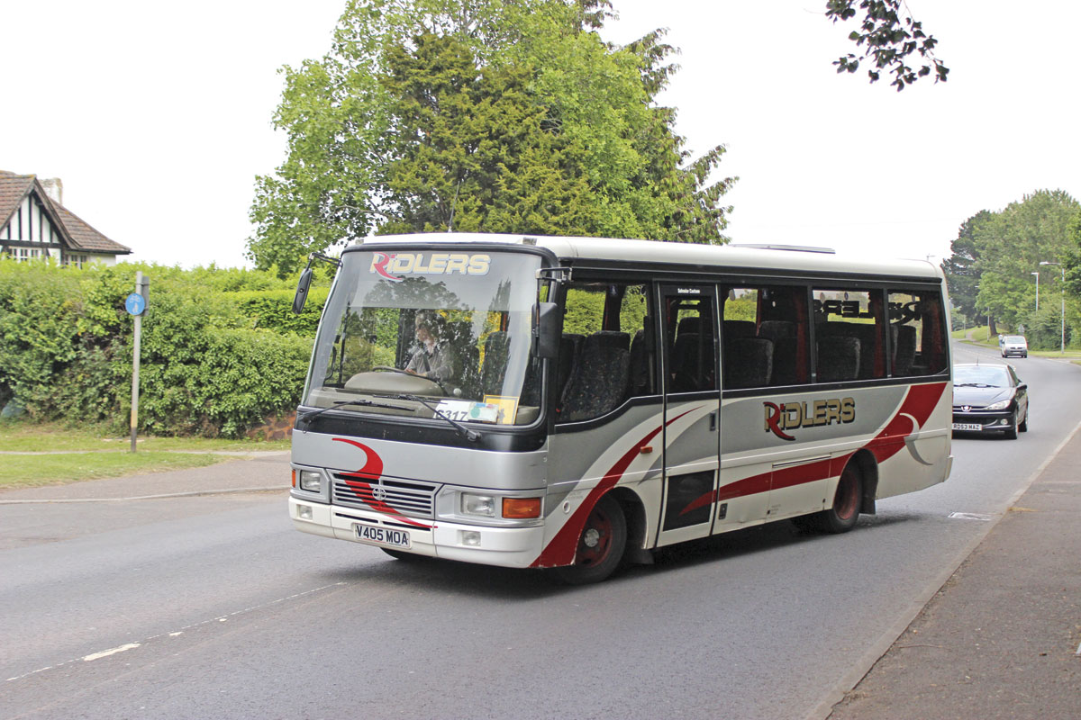 One of a pair of Toyota Optimos operated. This one is a 22 seater