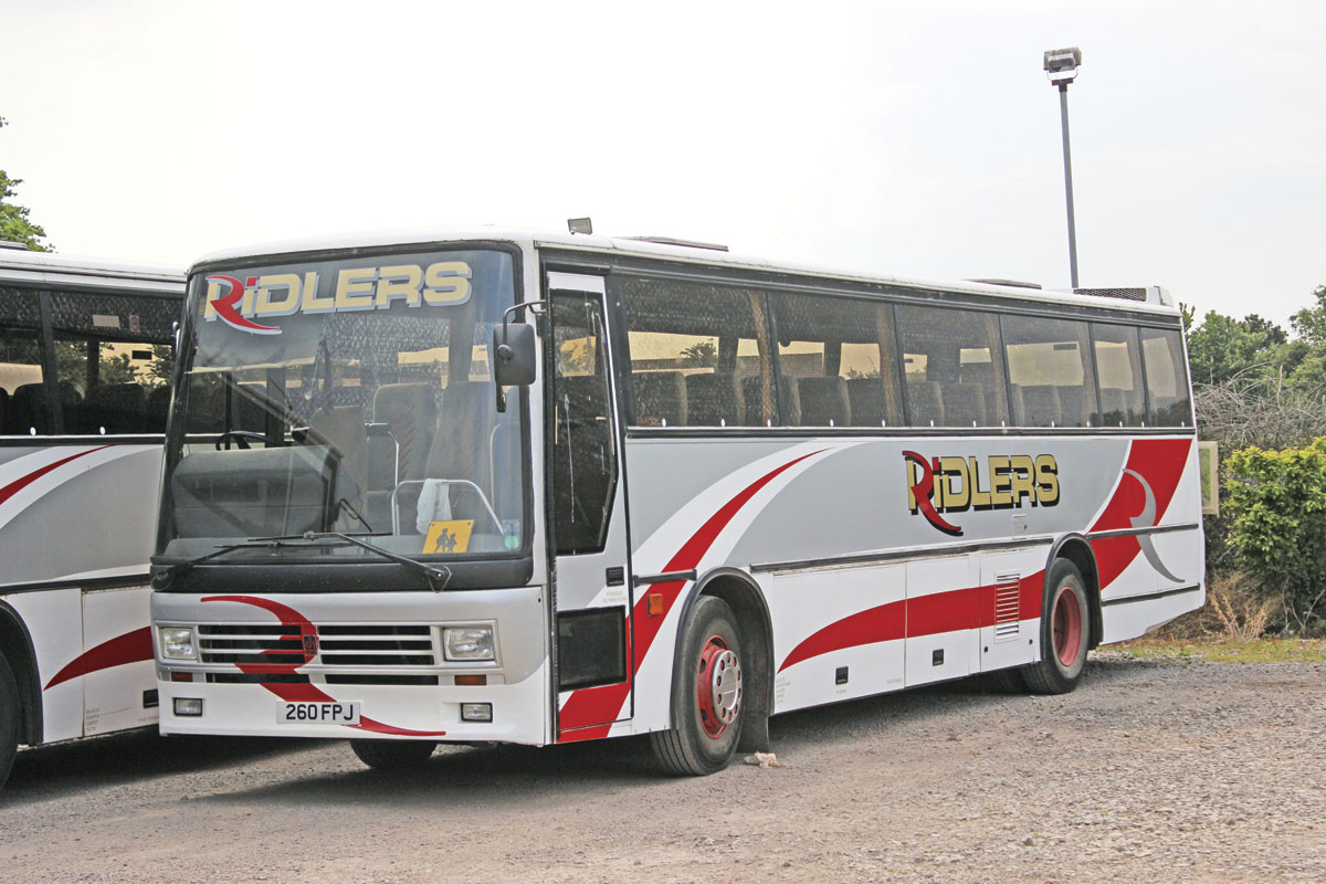One of several 11m Dennis Javelins with Duple 320 bodies retained because of their usefulness on narrow roads