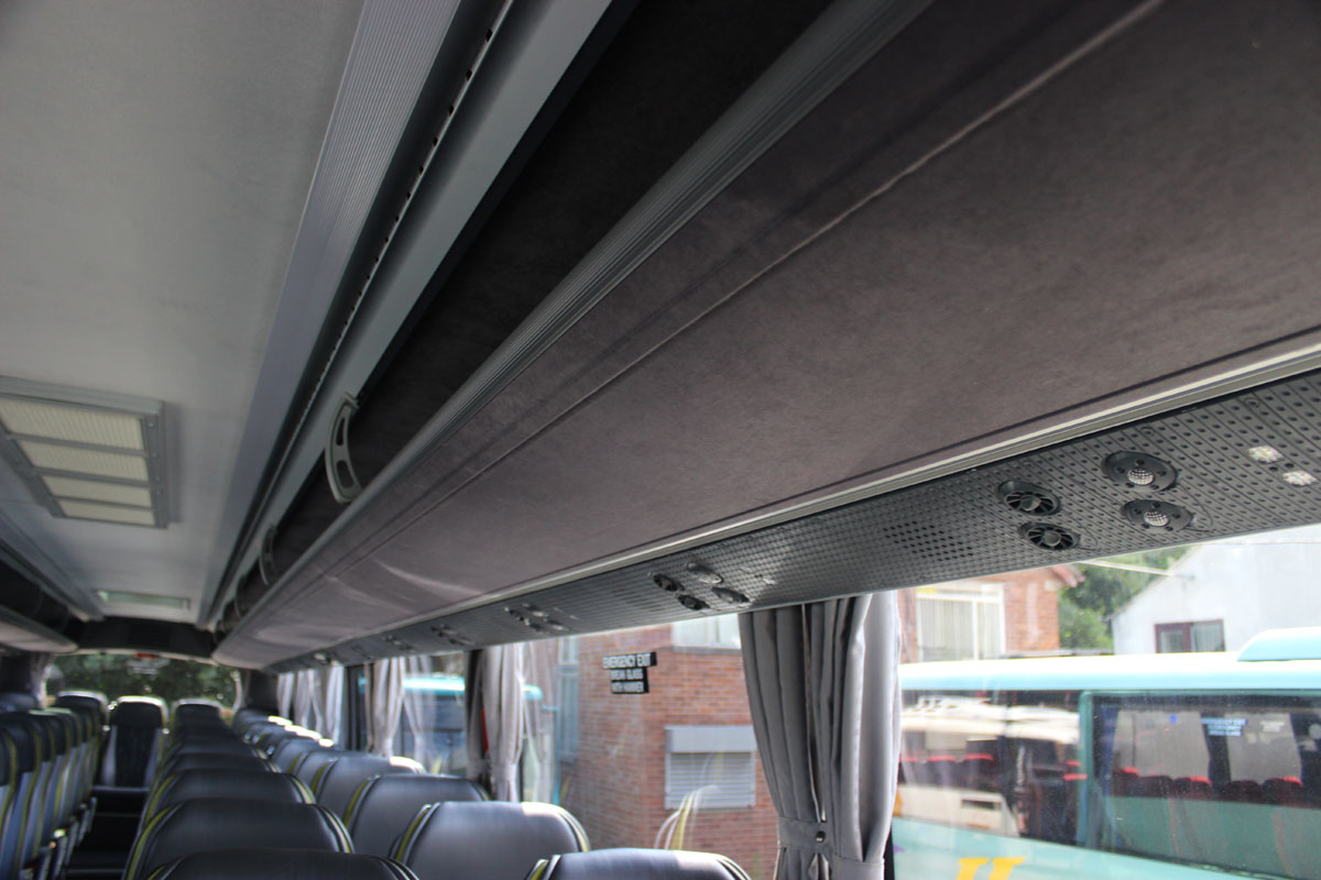 One slight personal criticism of the interior is that the way the passenger service units are angled reduces the glazed area visible to the passenger in the aisle seat