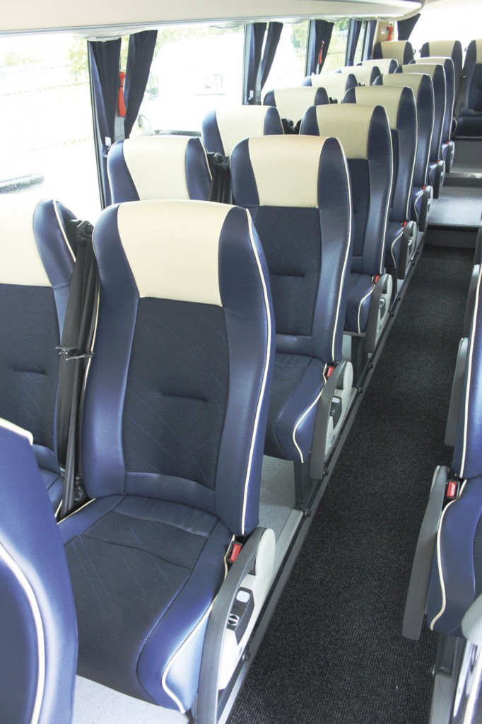 Seating in this vehicle uses Vogel recliners. In the 36 seat version Kiel seats are used