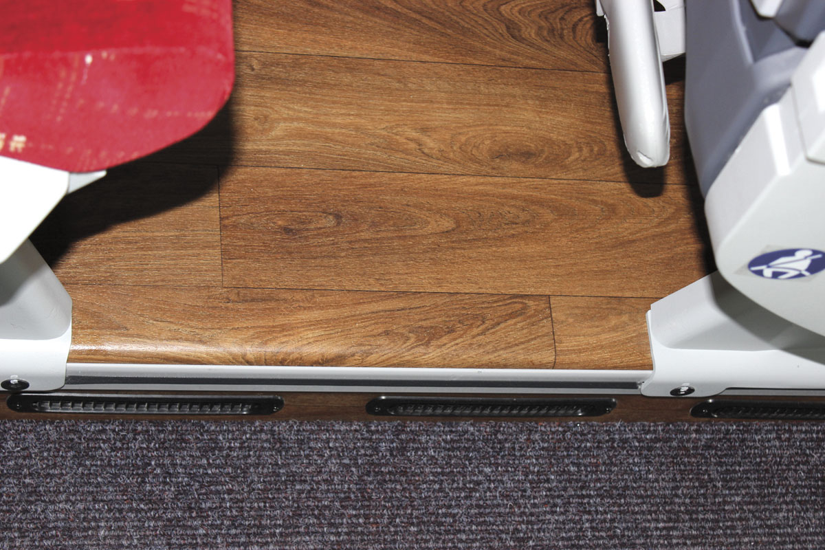 Smooth edges to the podiums are designed to make cleaning easier