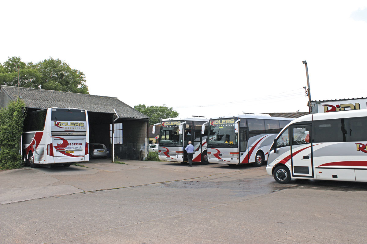 The depot in Williton was previously the base of Bryants Coaches