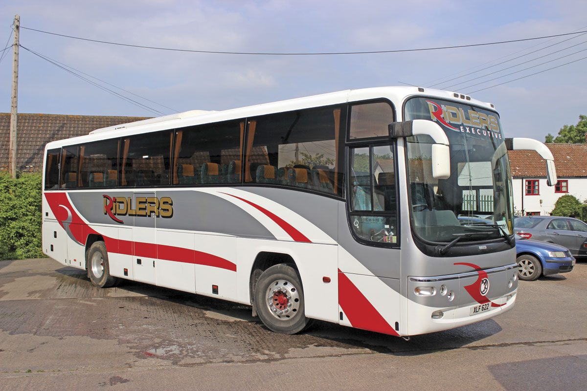 The first coach to carry the new livery was this Plaxton bodied Iveco EuroRider bought from Coach Europe. It has proved an excellent purchase