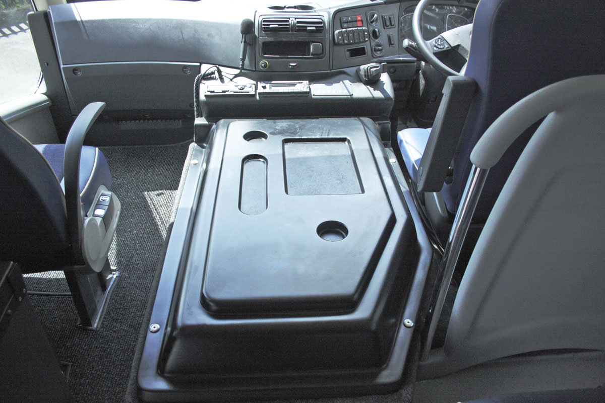 The neat engine cover which allows easy access to the passenger seat