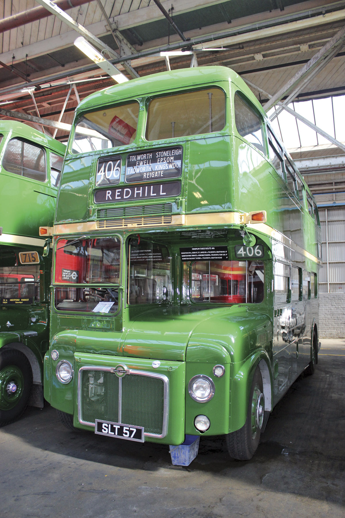 The prototype green country area Routemaster