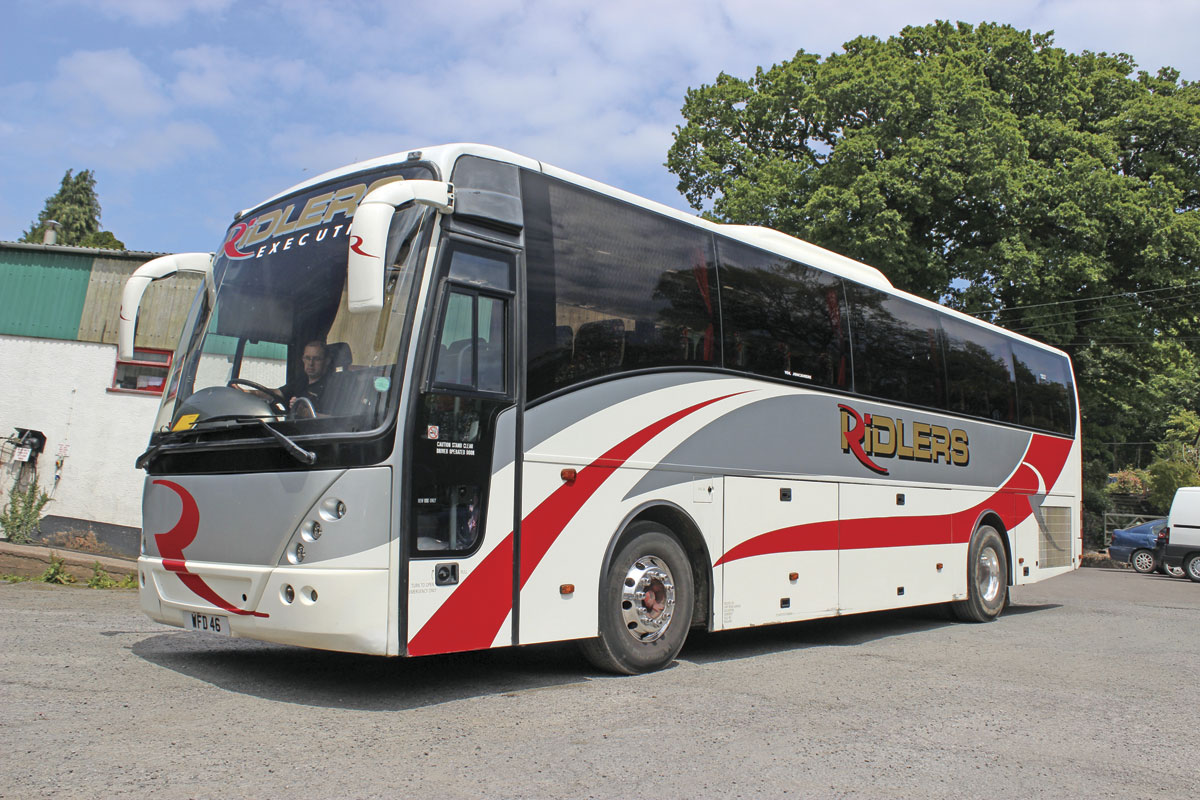 This 2004 Volvo B12B Jonckheere Mistral was previously with P.J Ellis