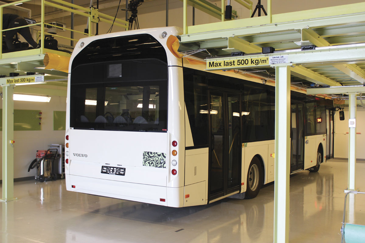 This specialist maintenance workshop for electric and electric hybrid buses