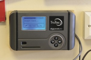 TruTac Card Reader installed in Johnson's Coaches offices