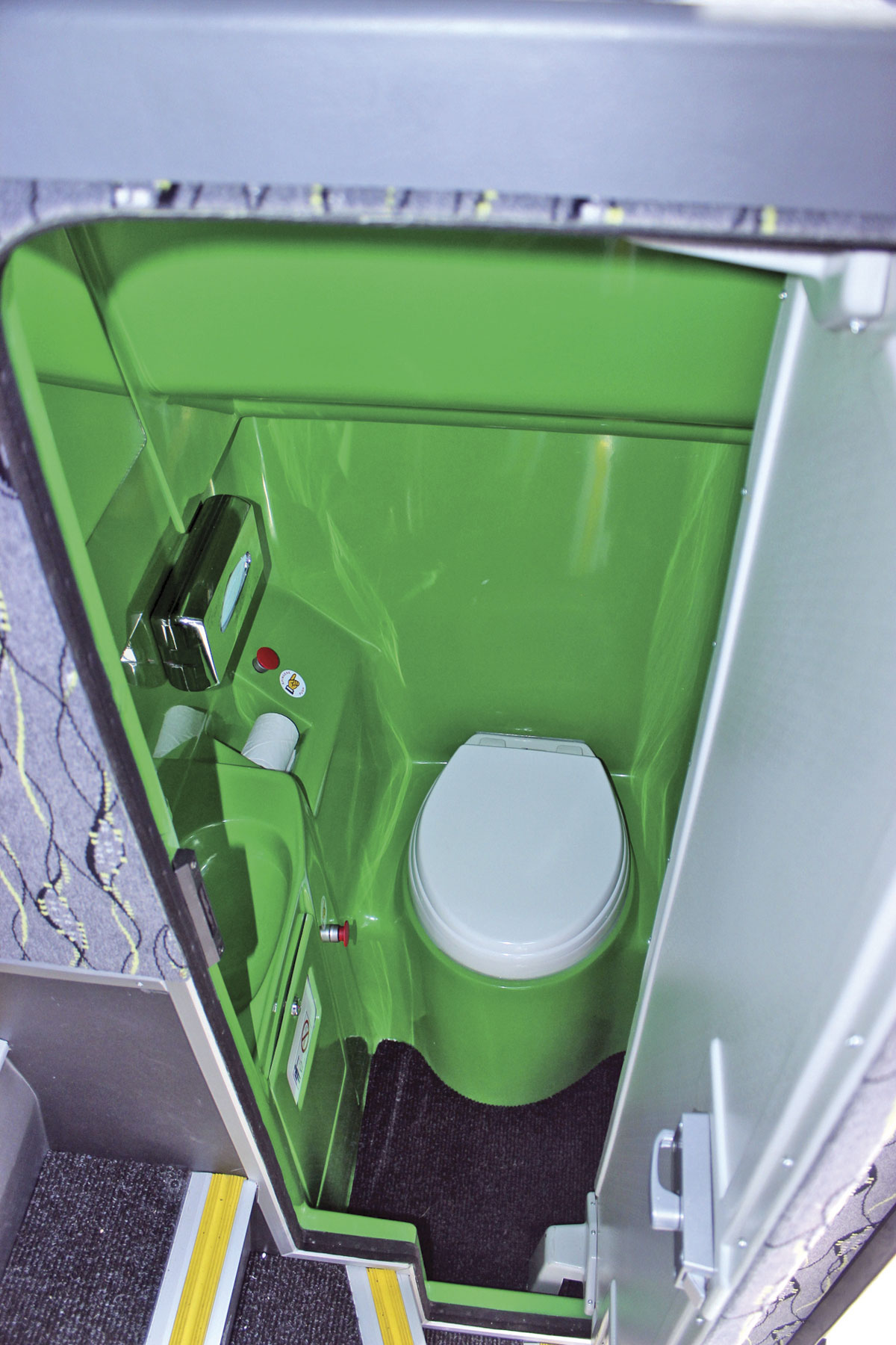 You can specify the colour you choose for the toilet interior. I don't think too many will be opting for the rather lurid green that Holmeswood have specified for their own fleet