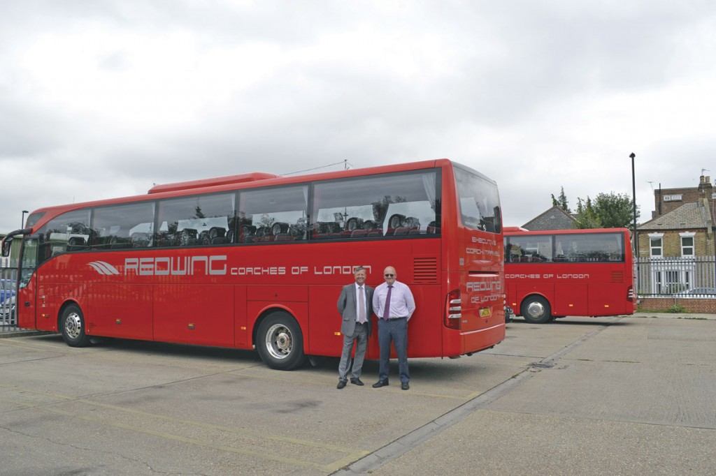 Directors of Redwing Coaches, Nigel Taylor and Paul Hockley.