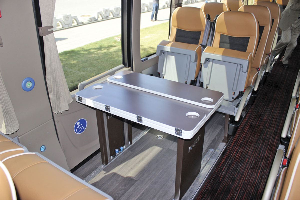 Iveco Magelys, table or wheelchair bay.