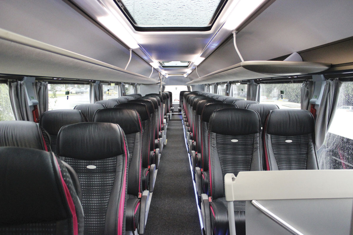 Neoplan Skyliner, top deck.