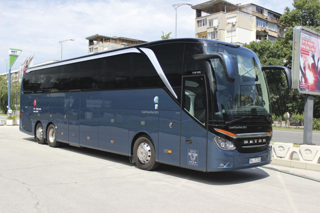 Setra TopClass S516HDH, front nearside.
