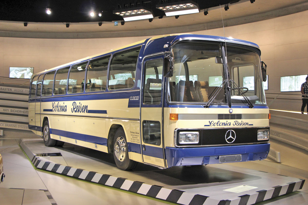 A 1979 Mercedes-Benz O.303 integral coach