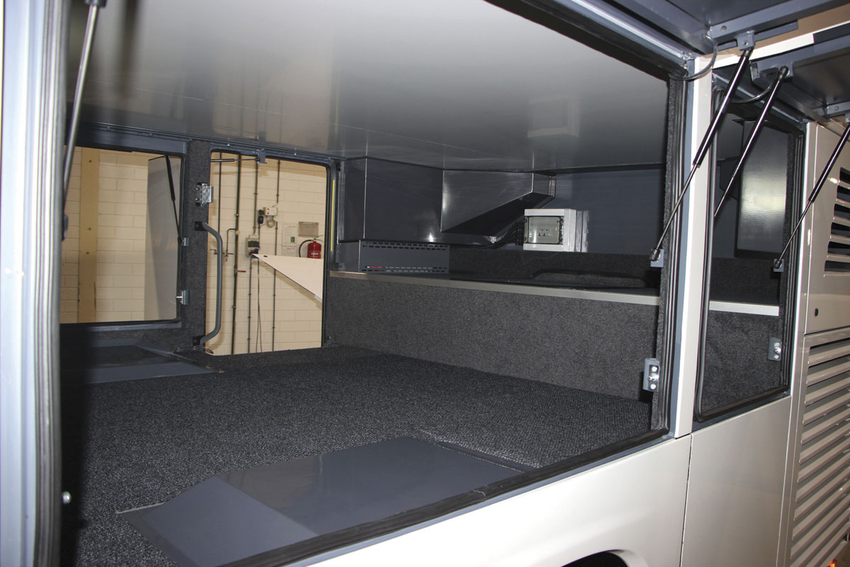 A comparatively uncluttered luggage hold has a 9.3 cubic metre capacity