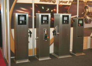 A line up of some of FuelTek's dispensing and fuel management units