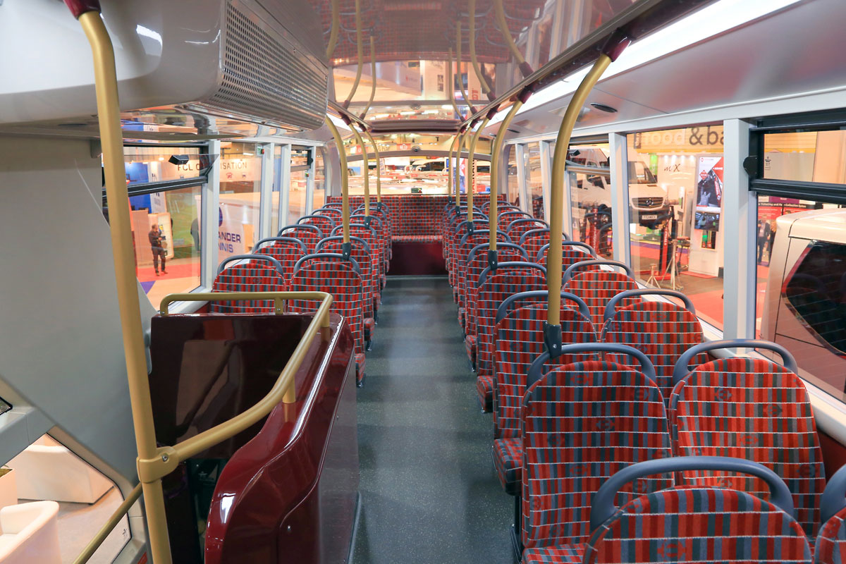 ADL Enviro 400H City for Arriva's London operation (Upper Deck Interior).