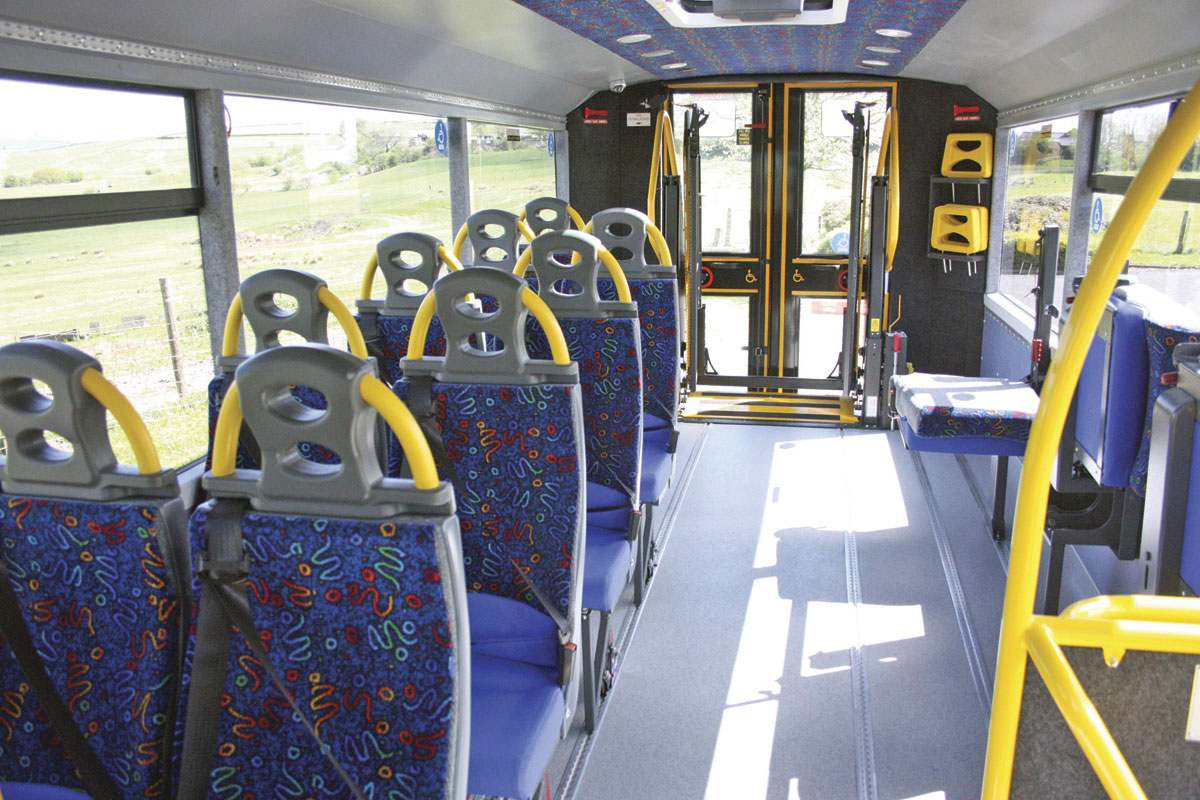 Aberdeenshire's vehicle had individual Rescroft CT-Lite seats and Rescroft Plica tip and folds