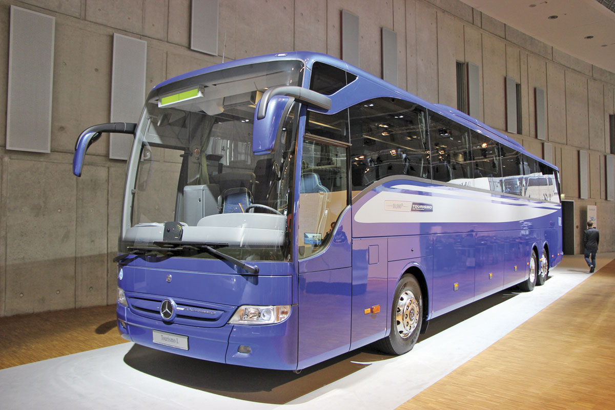 Appearing at Kortrijk will be a Hosdere built Mercedes-Benz Tourismo L, the 13.99m version that is not currently offered in the UK. This one features a wheelchair lift