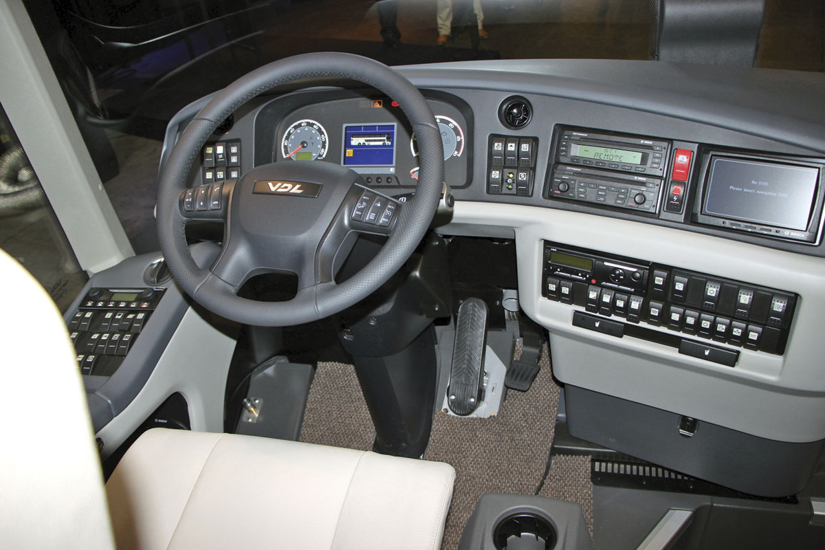 Grouped controls are used on the dash
