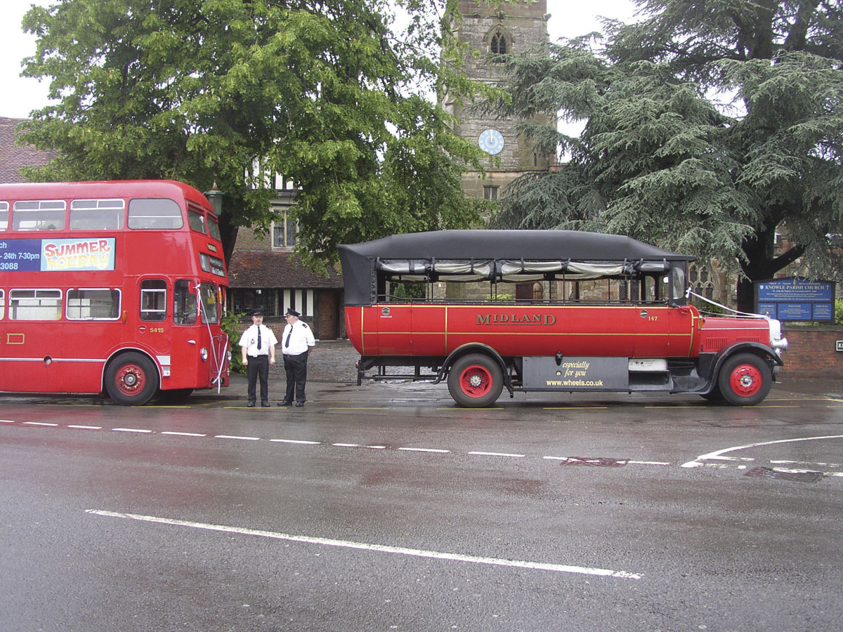 Midland Red Coaches vehicles were popular for wedding hires