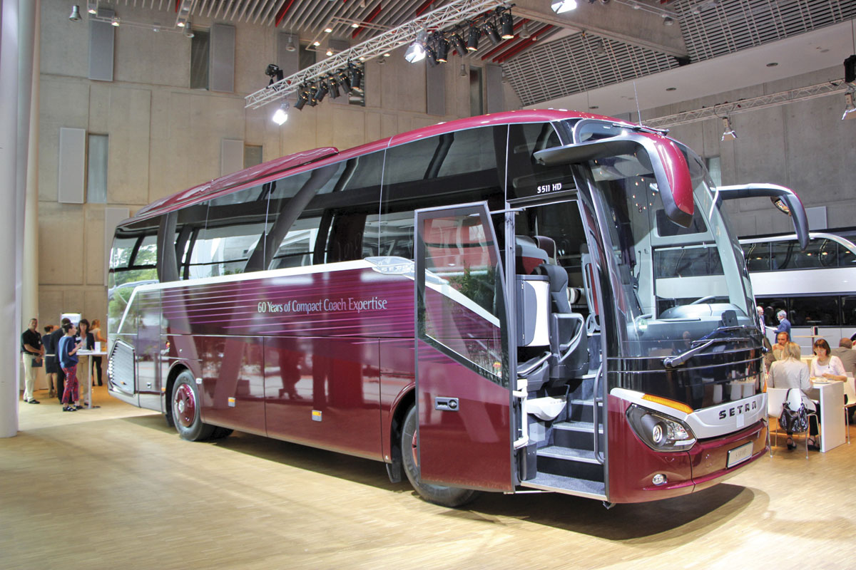 Not offered in right hand drive is the Setra ComfortClass S511HD