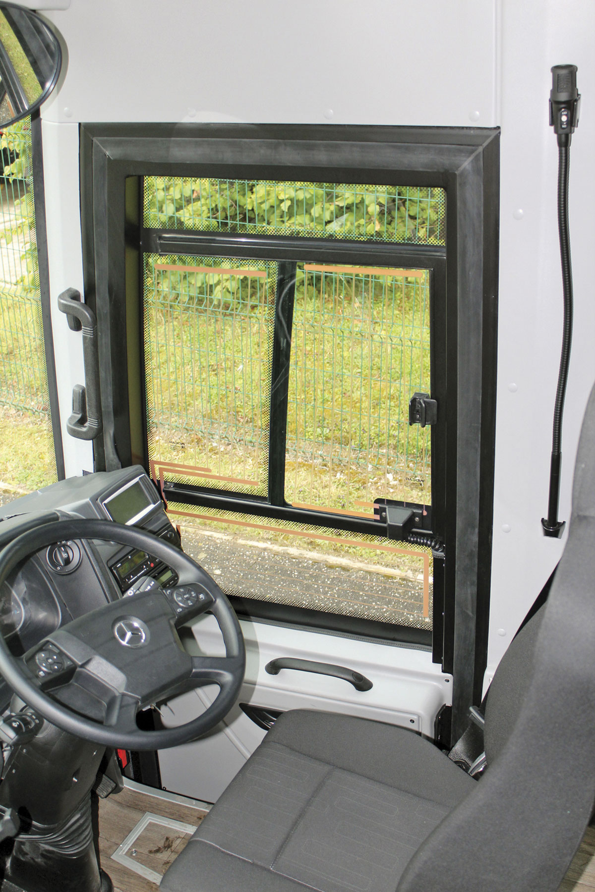 One of the changes introduced for the UK is a redesigned driver window that gives a clearer view. It is also heated