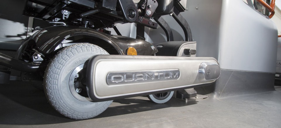 Quantum alters its grip as the vehicle drives to ensure the wheelchair does not slip or sway