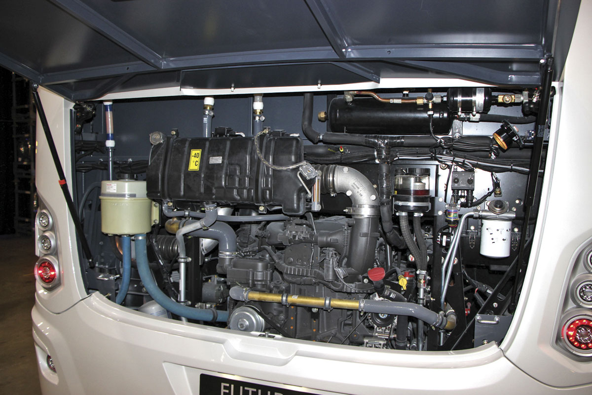 Standard in the Futura FDD2 is the DAF/Paccar MX13 engine